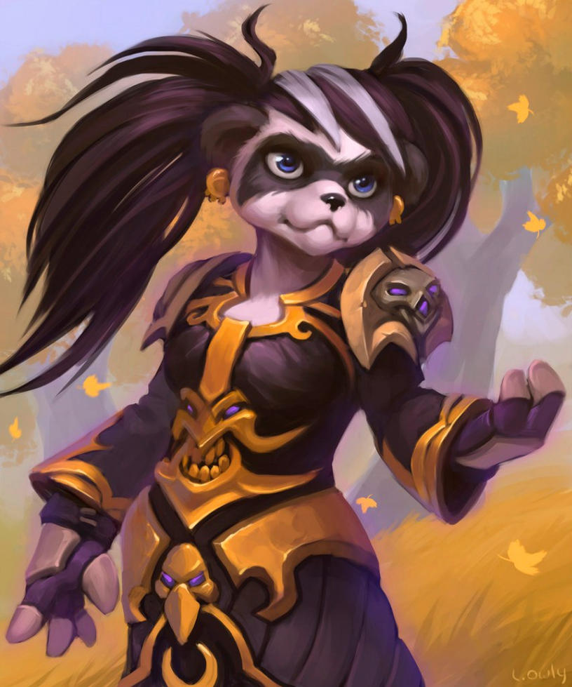 Commission: Pandaren Priest by lowly-owly on DeviantArt