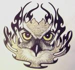 OWL Tribal Tattoo