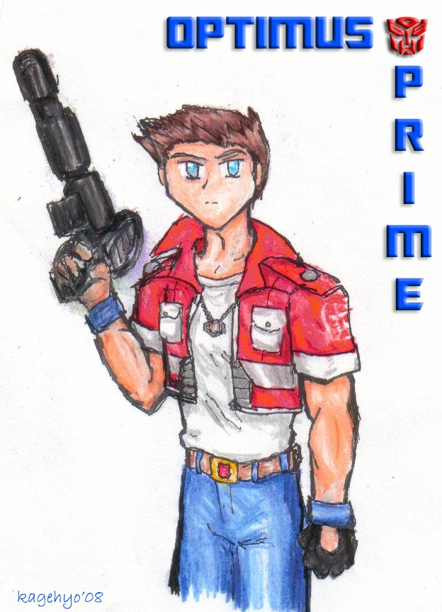 Human Optimus Prime by kagehyo