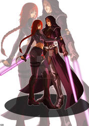 Namari Nerys and Trase Scarden by MandoGirl22