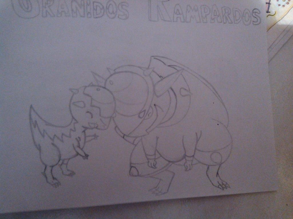 Cranidos y Rampardos by Okami-Norino