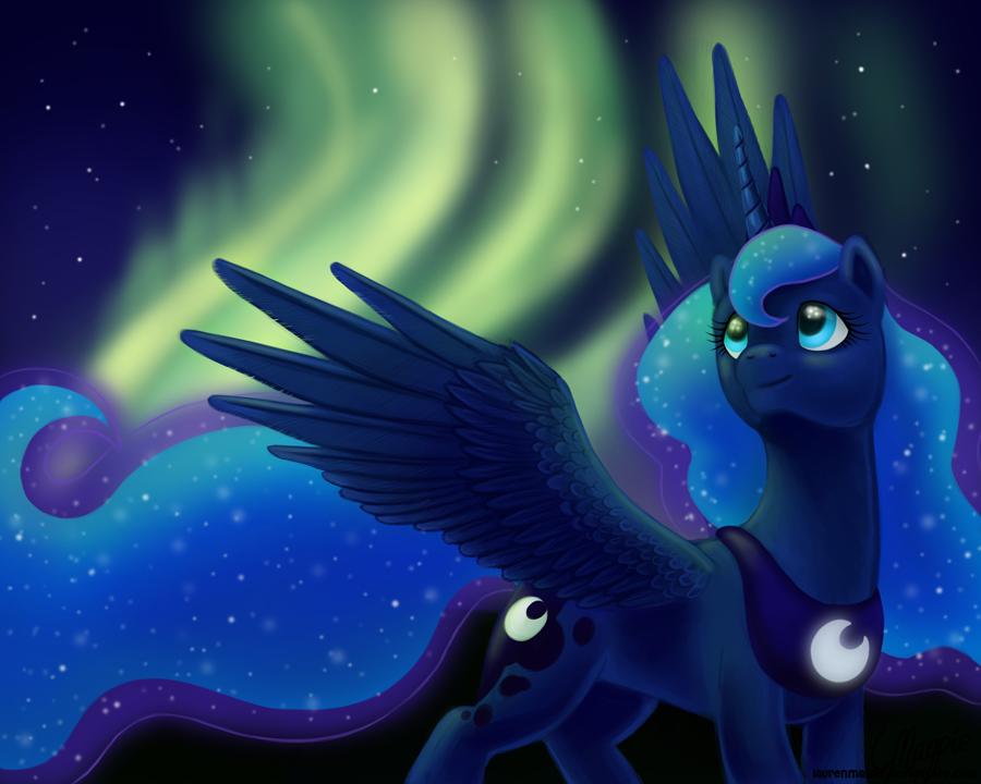 Princess Luna's Aurora by LaurenMagpie