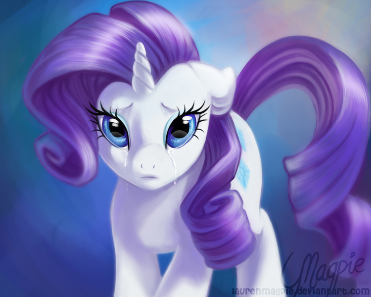 Rarity's Tears by LaurenMagpie
