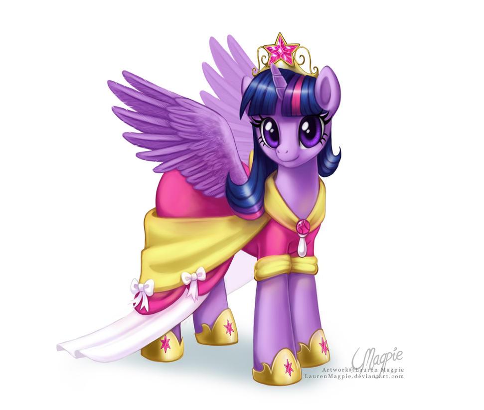 Princess Twilight Sparkle by LaurenMagpie