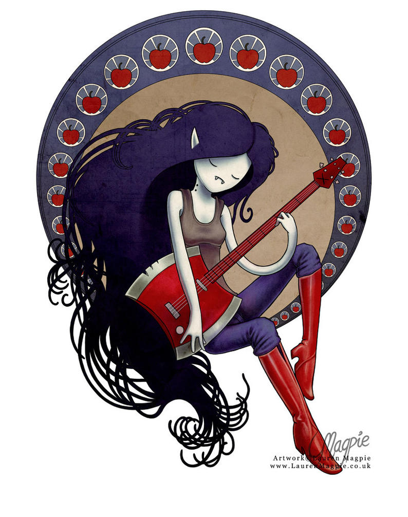 Art Nouveau Marceline by LaurenMagpie