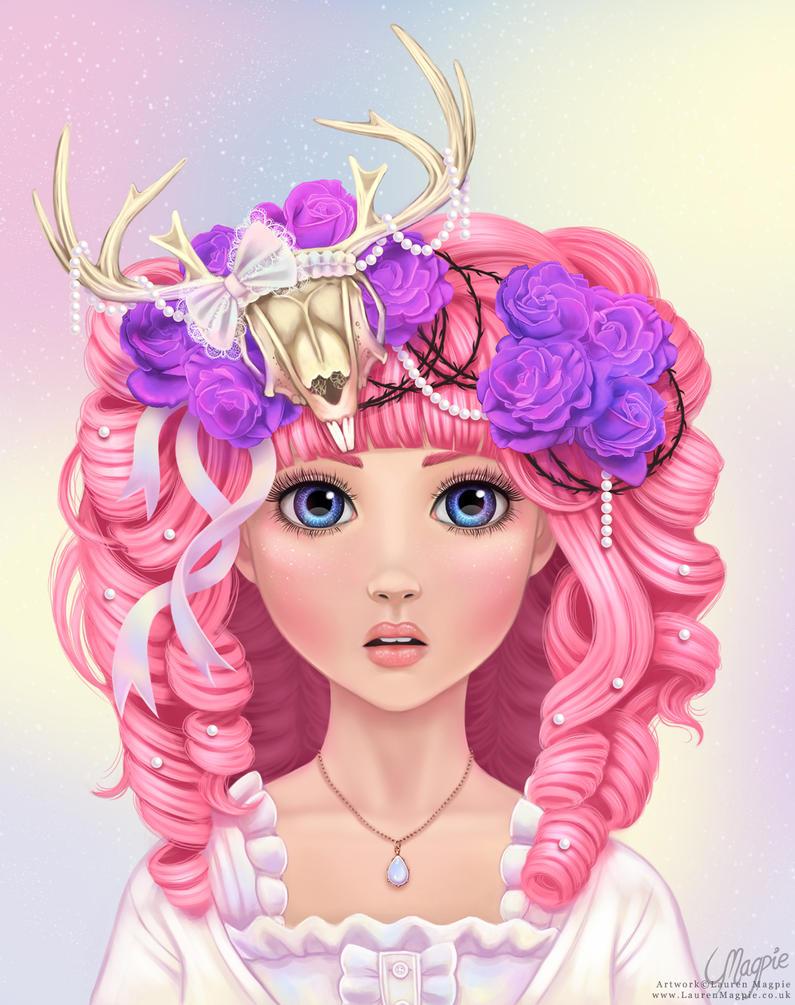Jackalope Princess by LaurenMagpie