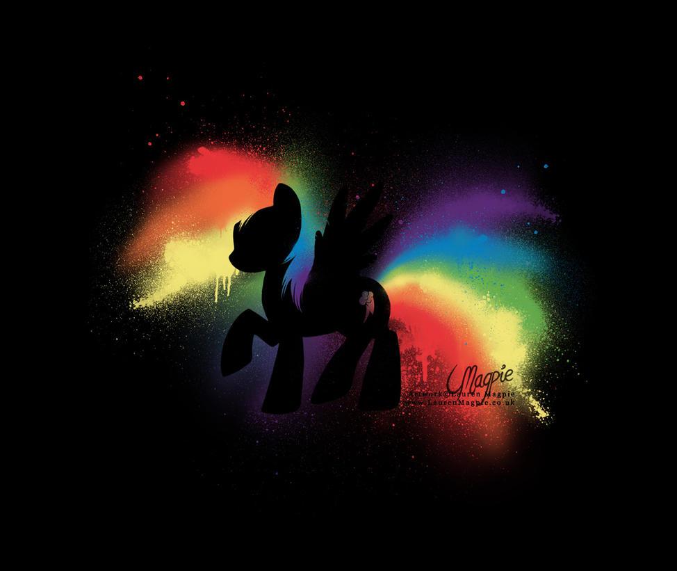 Rainbow Dash Graffiti by LaurenMagpie