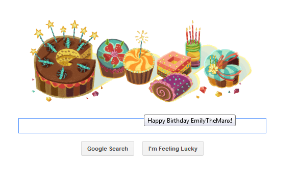 Birthday message from Google! by ShadowGirl7