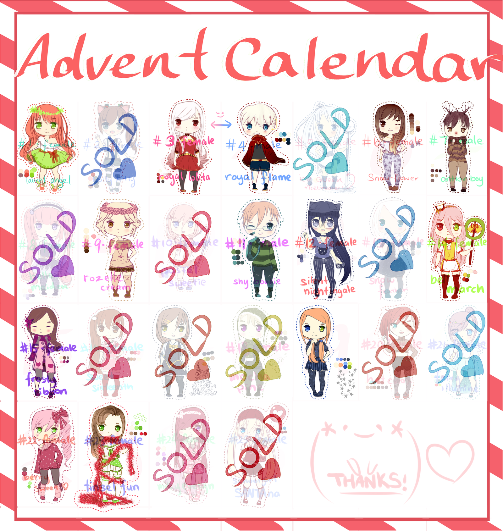 Advent Calendar Adopts [12 OPEN  $8/points] by rainbownote