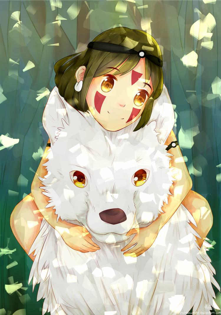 princess mononoke san and moro
