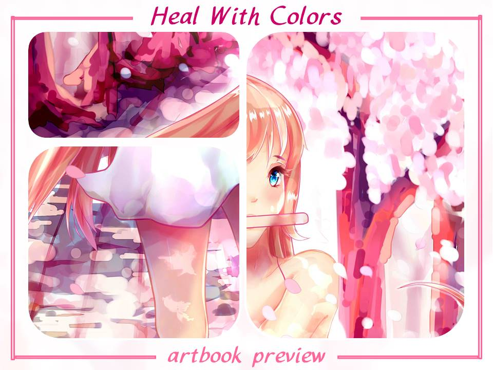 Heal With Colors Artbook Preview by rainbownote