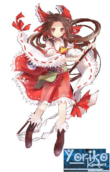 Hakurei Reimu Render by Huyuame-Yoriko