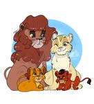 Lil TLK Family - Uru and Ahadi by MilkyGuro