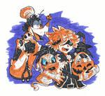 Halloween Town Sora, Donald and Goofy by maiitan