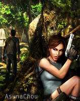 Lara Croft and Nathan number 1 by AsunaChou