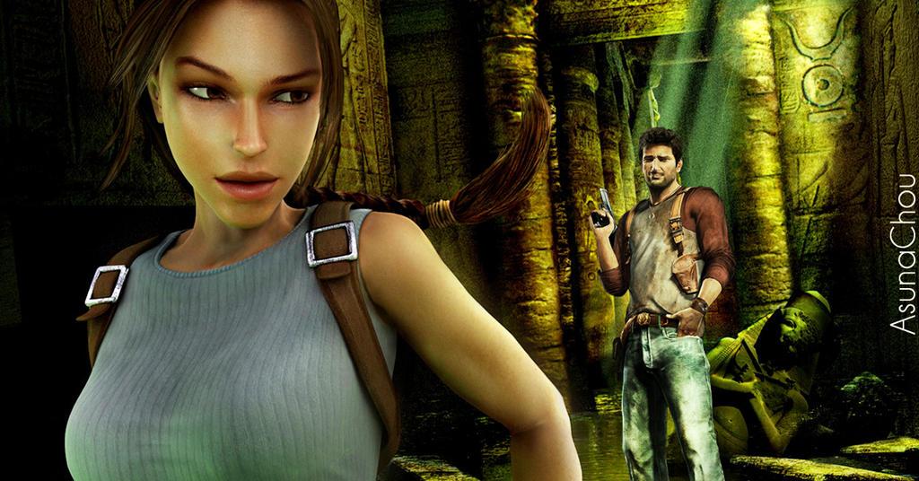 Lara Croft And Nathan Drake: Lara Croft And Nathan Drake 7 By AsunaChou On DeviantArt
