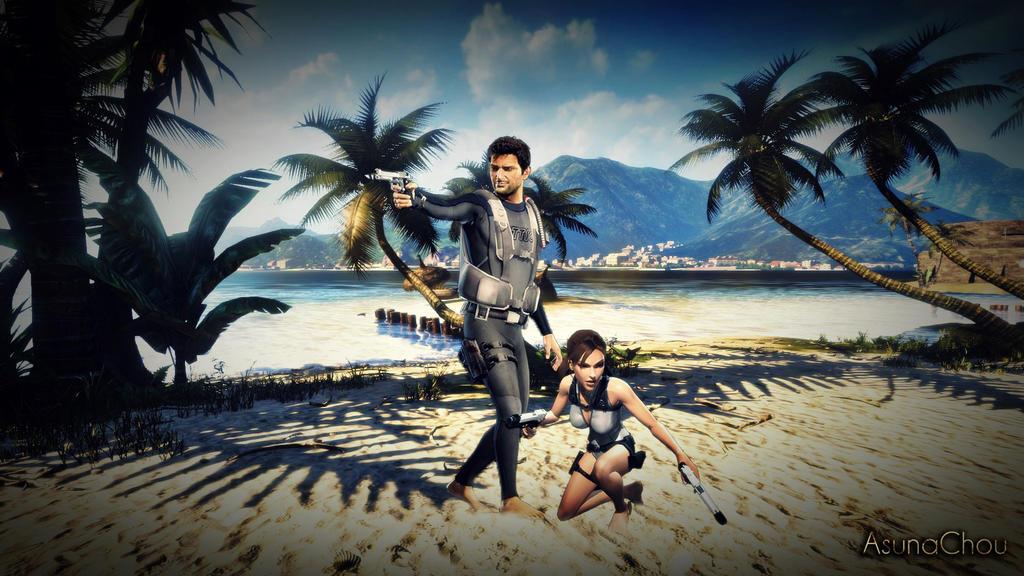 Lara Croft And Nathan Drake: Lara Croft And Nathan Drake 8 By AsunaChou On DeviantArt