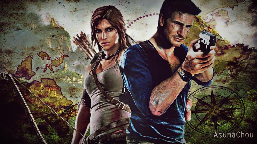 Lara Croft And Nathan Drake: Lara Croft And Nathan Drake (12) By AsunaChou