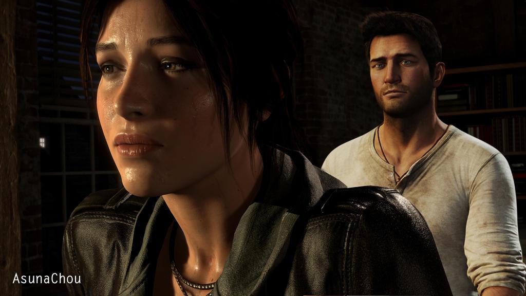 Lara Croft And Nathan Drake: Lara Croft And Nathan Drake (13) By AsunaChou