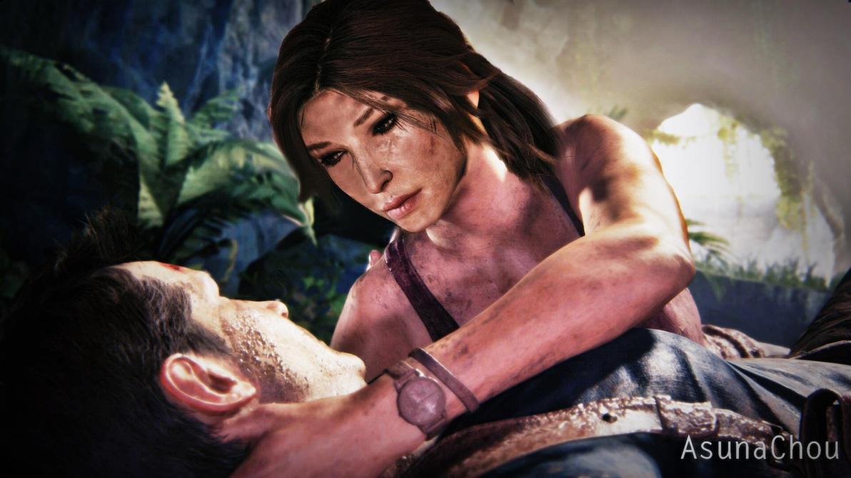 Lara Croft And Nathan Drake: Lara Croft And Nathan Drake (17) By AsunaChou