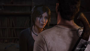 Cross Over - Lara Croft and Nathan Drake (20) by AsunaChou