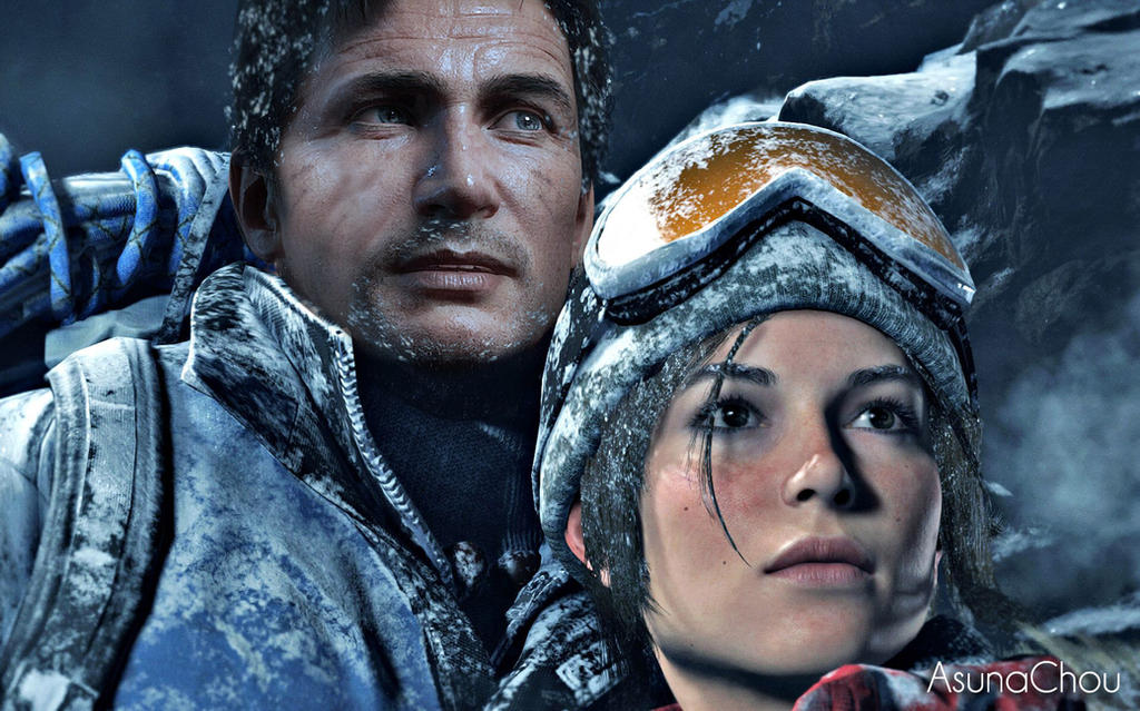 Lara Croft And Nathan Drake: Lara Croft And Nathan Drake (22) By AsunaChou