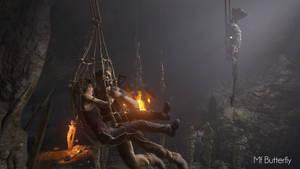 Escape (Lara Croft and Nathan Drake 22) by AsunaChou