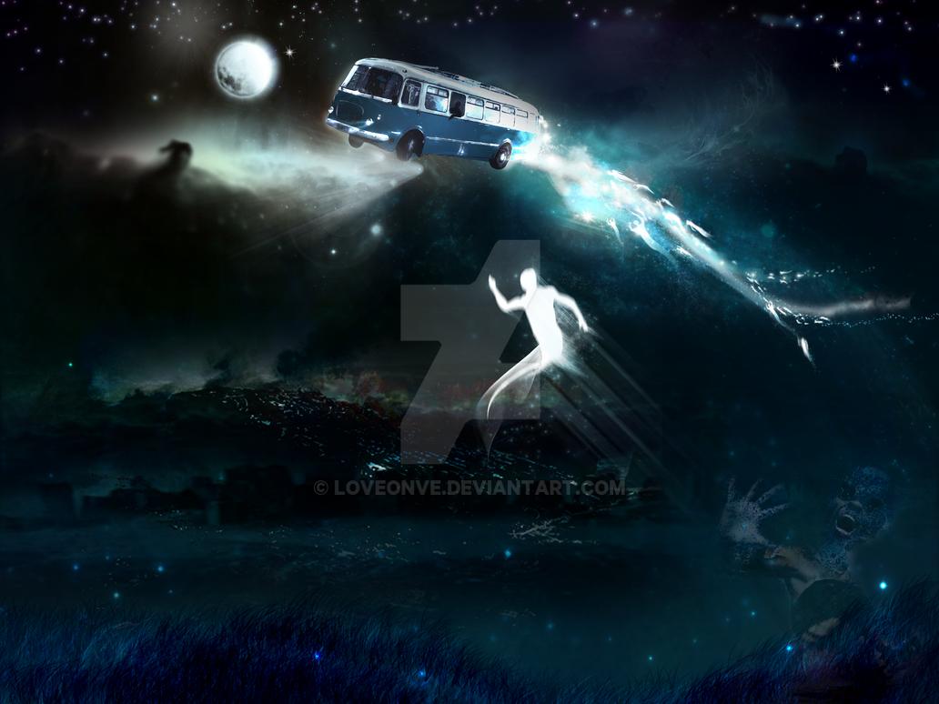 Heaven Blue Bus by Loveonve