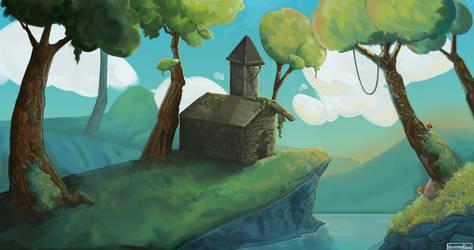 Ruins (stylised landscape)