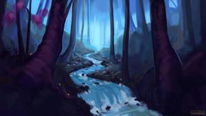 Cold Forest- speedpaint