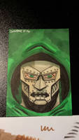 Dr doom sketch card