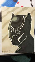 Civil war black panther sketch card