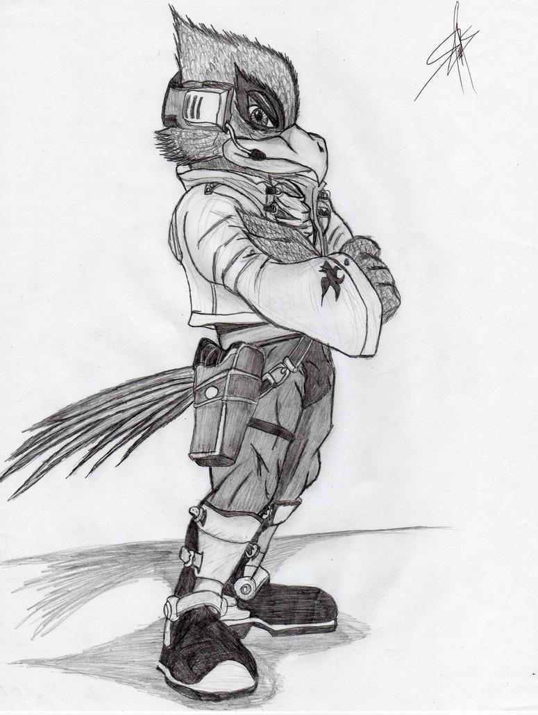 Falco SSBB by DrakuazaFalco Ssbb Drawings