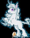 Last Unicorn chibi by grumpygriffcreation