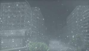 [MMD] Snowy town