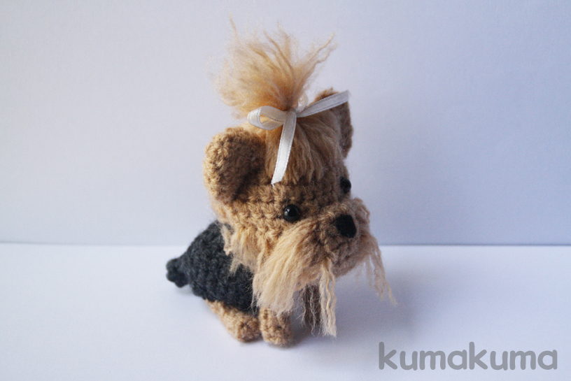 Amigurumi Crochet Yorkie : Yorkshire Terrier amigurumi by kumakumashop on DeviantArt