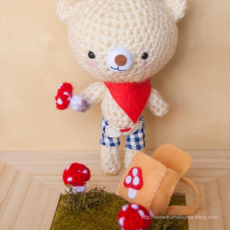 Amigurumi crochet pattern: bear and mushrooms by ...
