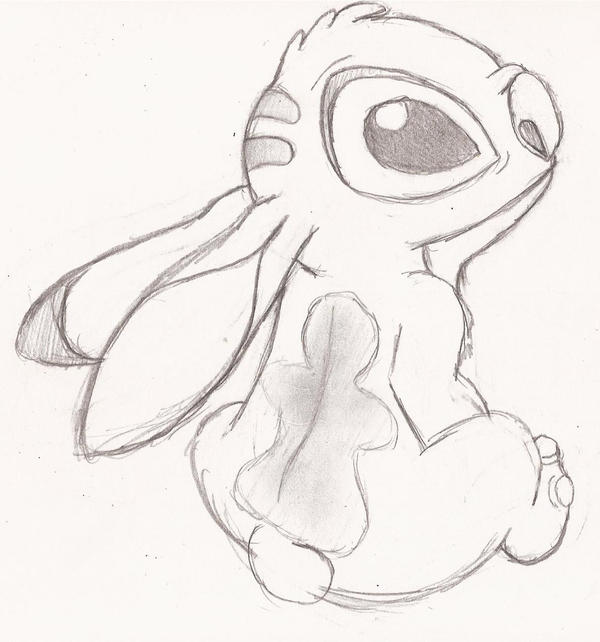 first time sketch of stich by speckledmindphoenix on DeviantArt