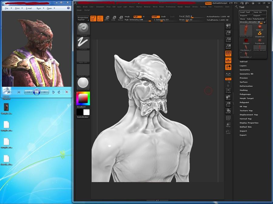 Vampire head by graphmac