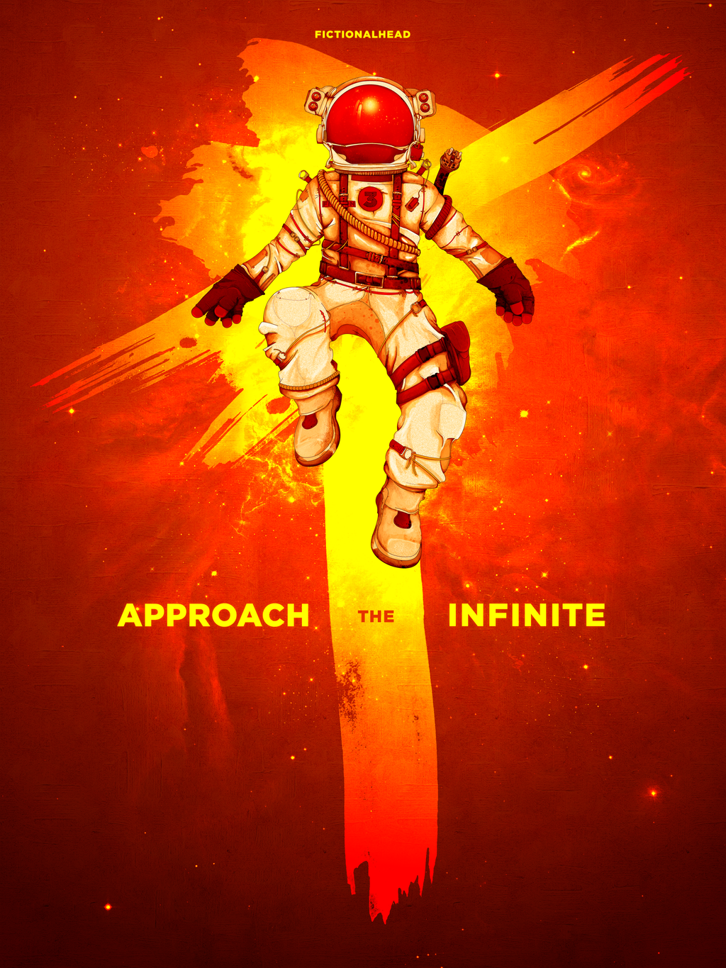 Approach The Infinite, Poster, With Text by smashmethod