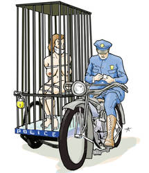 1920s Motorcycle Cop Cage by AshBond