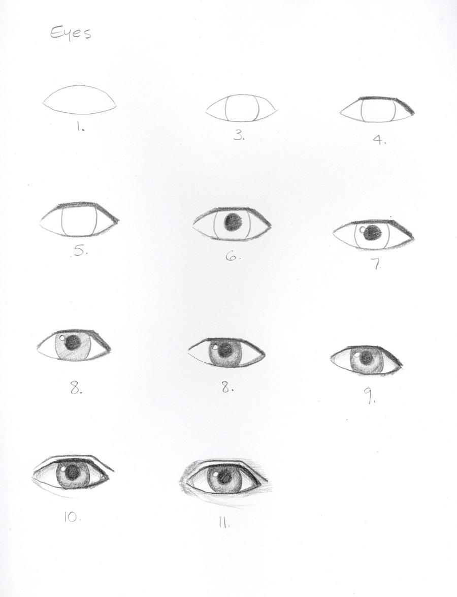 How To Draw Eyes By Princessarabell
