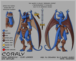 Coraly model sheet by Kanthara