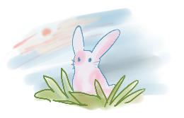 Say hallo Rabbit A by Tausendberg