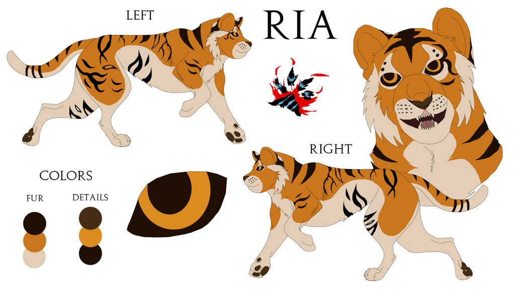 Ria Reference Sheet by Black-Tiger-of-Evil