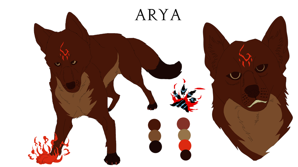 Arya Reference Sheet by Black-Tiger-of-Evil