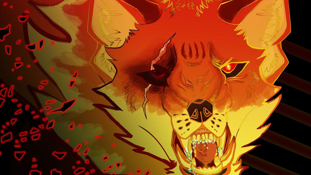 Ninetails True  Form by Black-Tiger-of-Evil