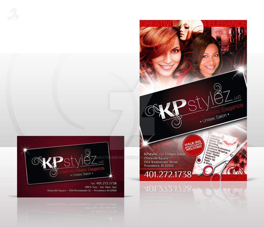Salon Flyer and Biz Card by AnotherBcreation