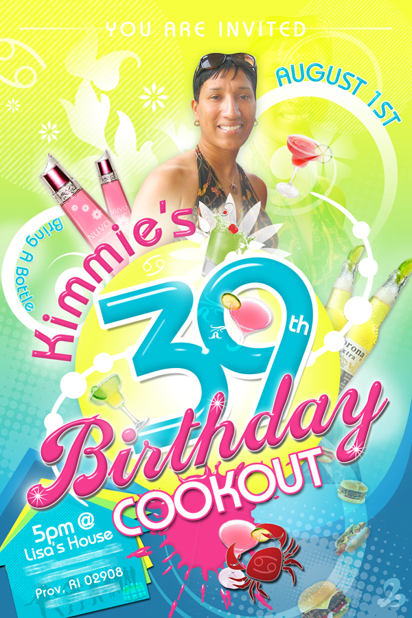 birthday invitation flyer
