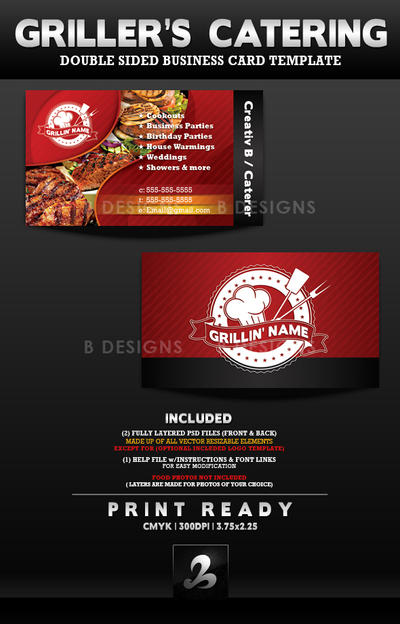 Grillers catering business card template by anotherbcreation on grillers catering business card template by anotherbcreation colourmoves